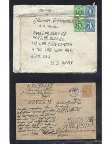 Tres cartas prisioneros Alemania II Guerra Mundial Prisioneros de guerra - II Guerra Mundial.