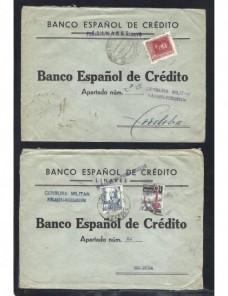 Dos cartas Peñarroya Pueblonuevo Guerra Civil Española censura Zona Nacional - Guerra Civil Española.