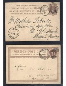 Dos tarjetas entero postales Gran Bretaña Victoria Gran Bretaña - Siglo XIX.