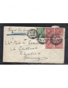 Carta correo aéreo Gran Bretaña Jorge V Gran Bretaña - 1900 a 1930.