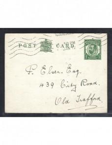 Tarjeta entero postal comercial Gran Bretaña Jorge V Gran Bretaña - 1900 a 1930.