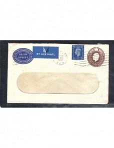 Sobre entero postal comercial correo aéreo Gran Bretaña Jorge V Gran Bretaña - 1931 a 1950.