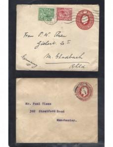 Cuatro sobres entero postales Gran Bretaña Jorge V Gran Bretaña - 1900 a 1930.