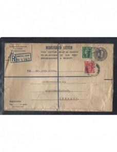 Dos sobres entero postales certificados Gran Bretaña Jorge VI Gran Bretaña - Desde 1950.