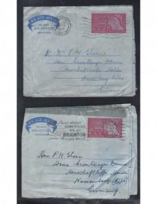 Tres aerogramas Gran Bretaña Isabel II Gran Bretaña - Desde 1950.