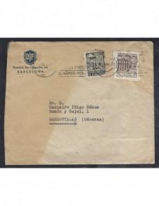 Dos cartas comerciales España matasellos rodillo España - 1931 a 1950.