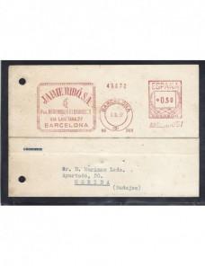 Tarjeta comercial de España con franqueo mecánico España - Desde 1950.