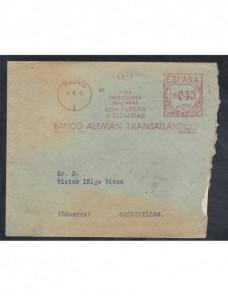 Carta comercial de España con franqueo mecánico España - 1931 a 1950.