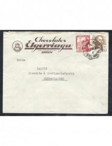 Carta comercial de España matasellos ambulante ferrocarril España - 1931 a 1950.