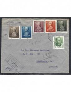 Carta aérea y certificada de España  España - Desde 1950.