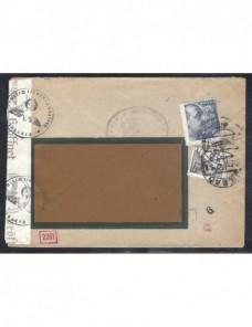 Carta España doble censura España - 1931 a 1950.
