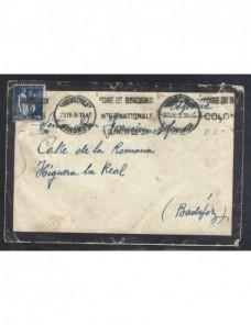Carta de luto Francia matasellos de rodillo Francia - 1931 a 1950.