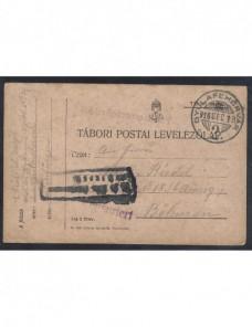 Tarjeta militar hospital de campaña Hungría I Guerra Mundial Imperios Centrales - I Guerra Mundial.
