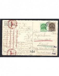 Tarjeta postal ilustrada Hungría censura alemana II Guerra Mundial Otros Europa - 1931 a 1950.