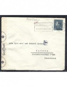 Carta Bélgica con censura Alemania II Guerra Mundial Otros Europa - 1931 a 1950.