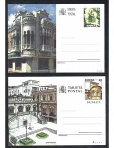 Lote temático. Tema arquitectura. Cinco tarjetas entero postales España Entero Postales.