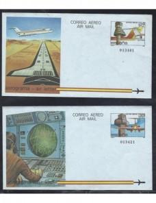 Lote temático. Tema aviación. Dos aerogramas España Entero Postales.