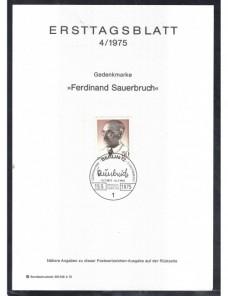 Cinto documentos primer día emisión sellos Alemania Alemania - Desde 1950.