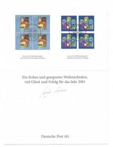 Lote temático. Tema Navidad. Documento primer día Alemania Otros elementos temáticos.