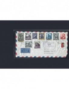 Tres cartas correo aéreo y certificado España España - Desde 1950.