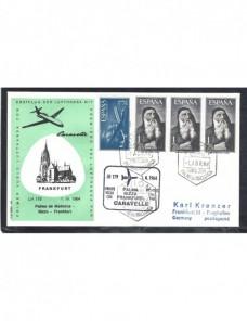Carta correo aéreo España marca primer vuelo España - Desde 1950.