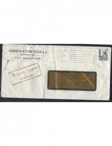 Dos cartas comerciales San Sebastián censura militar Guerra Civil Zona Nacional - Guerra Civil Española.