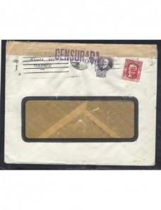 Carta comercial Madrid censura militar II República Guerra civil  Zona Republicana - Guerra Civil Española.