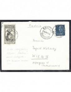 Carta de España sello benéfico Mutualidad de Correos España - Desde 1950.