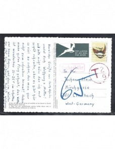 Tarjeta postal ilustrada correo aéreo Sudáfrica marca de tasas Otros Mundial - Desde 1950.