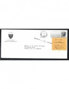 Carta Estados Unidos marca y etiqueta de tasas y devolución EEUU - Desde 1950.