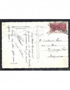 Tarjeta postal ilustrada Francia matasellos belga Francia - 1931 a 1950.