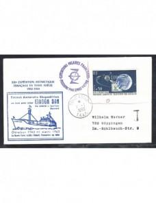 Lote temático. Tema barcos. Carta Francia marca viaje polar y tasa Otros elementos temáticos.