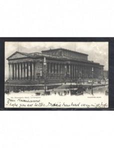 Tarjeta postal ilustrada Gran Bretaña marca de tasa Gran Bretaña - 1900 a 1930.