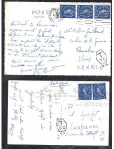 Cuatro tarjetas postales...