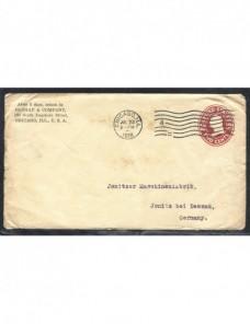 Sobre entero postal comercial Estados Unidos EEUU - 1900 a 1930.