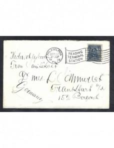 Carta Estados Unidos matasellos estación y bandera EEUU - 1900 a 1930.