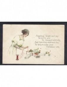 Tarjeta postal ilustrada Estados Unidos EEUU - 1900 a 1930.