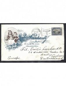 Carta Estados Unidos membrete litografiado EEUU - 1900 a 1930.