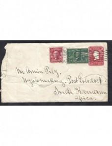 Sobre entero postal Estados Unidos dirigido a Camerún EEUU - 1900 a 1930.