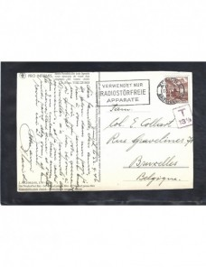 Tarjeta postal ilustrada Suiza marca de tasa y matasellos especial Otros Europa - 1931 a 1950.