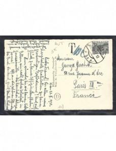 Tarjeta postal ilustrada Austria marca de tasa Otros Europa - 1931 a 1950.