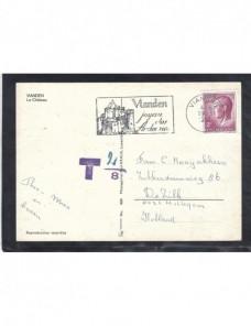 Lote temático. Tema castillos. Tarjeta postal Luxemburgo matasellos  Matasellos y franqueos mecánicos.