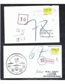 Cinco cartas Holanda marcas de tasa Otros Europa - Desde 1950.