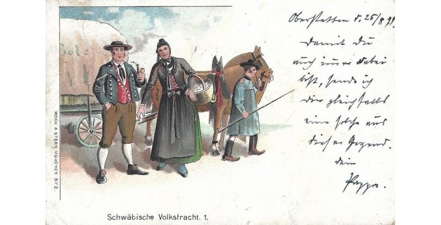 Tarjeta postal ilustrada...