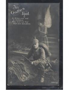 Tarjeta postal feldpost Alemania I Guerra mundial marca devolución Imperios Centrales - I Guerra Mundial.