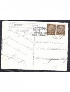 Tarjeta postal ilustrada Alemania marca de devolución Alemania - 1931 a 1950.