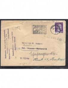 Tarjeta postal bancaria Alemania II Guerra Mundial marca devolución Potencias del eje - II Guerra Mundial.