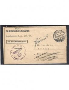 Documento oficial Alemania marca de devolución Alemania - 1931 a 1950.