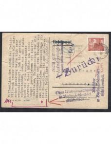 Tarjeta postal Alemania marcas devolución  Alemania - Desde 1950.