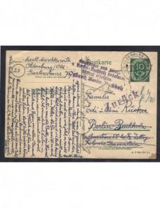 Tarjeta entero postal Alemania marcas devolución  Alemania - Desde 1950.